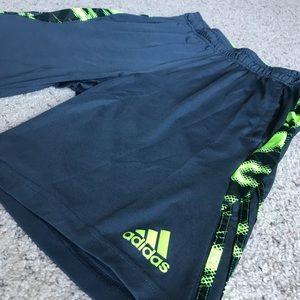 Adidas Climalite green stripe athletic shorts M